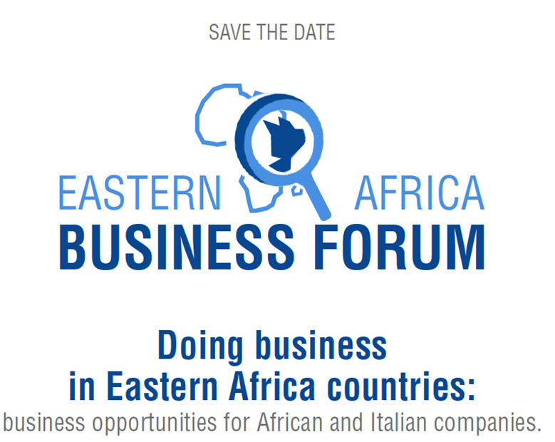 Save the date - Eastern Africa Business Forum, Roma 11 giugno 2019 - 10/05/2019